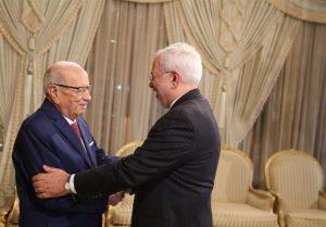 ظریف با رئیس جمهوری تونس دیدار کرد